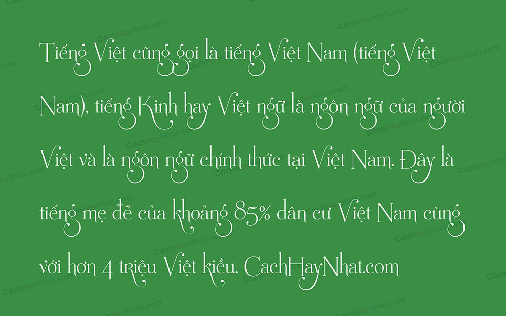 Font UVF Mussica Swash Việt Hóa