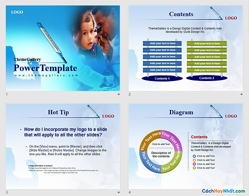 Download PowerPoint Template 399TGp_medical_light_ani