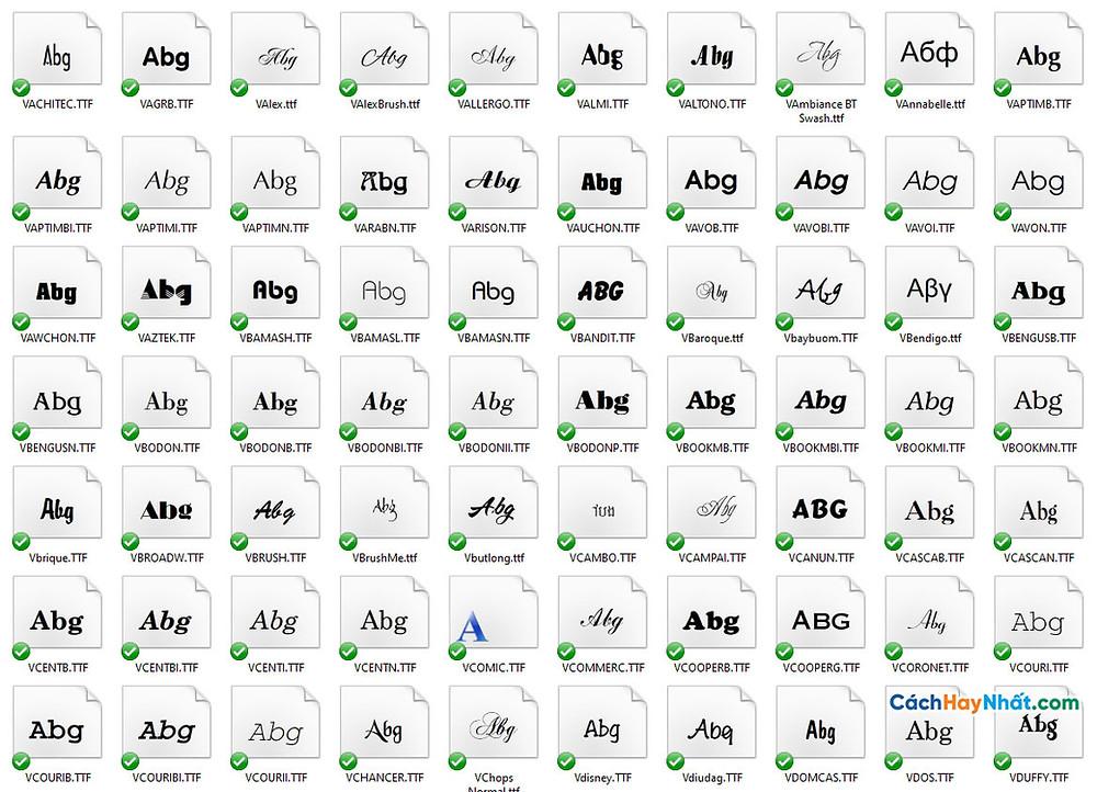 300 Font Chữ VNI Full Tuyệt Đẹp