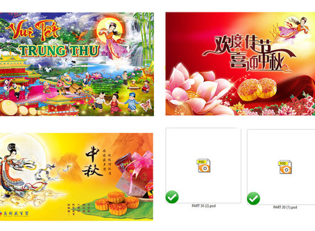 Phông Nền Background Trung Thu PSD Photoshop Part31
