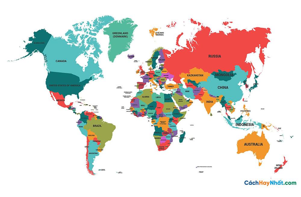 Bản Đồ Thế Giới political map world