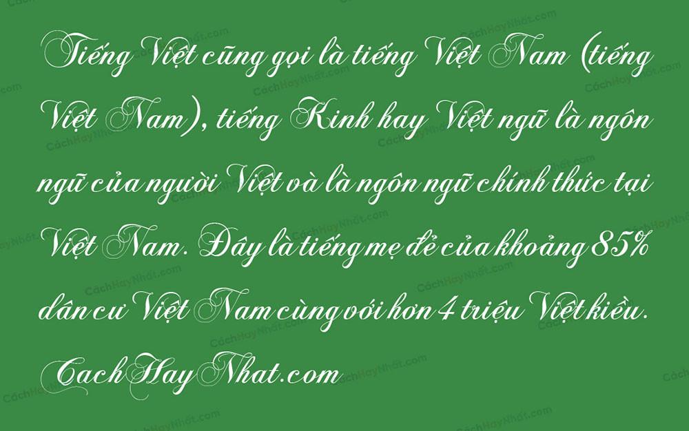 đoạn văn bản font VNF Chops Normal Việt hóa
