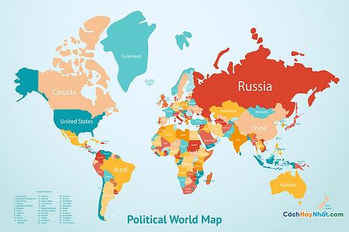 Bản Đồ Thế Giới Earth Map Countries Vector