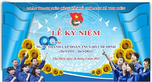 Phông Lễ Kỷ Niệm Đoàn Thanh Niên Vector Corel CDR