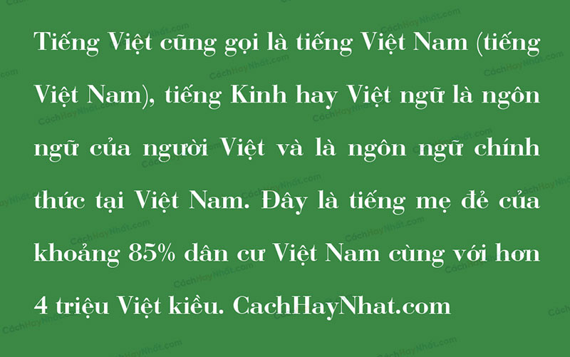 đoạn văn bản font Bodoni Việt hóa
