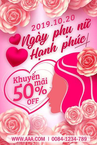 Phông Nền Background Ngày Phụ Nữ Việt Nam 20/10 PSD Photoshop 03