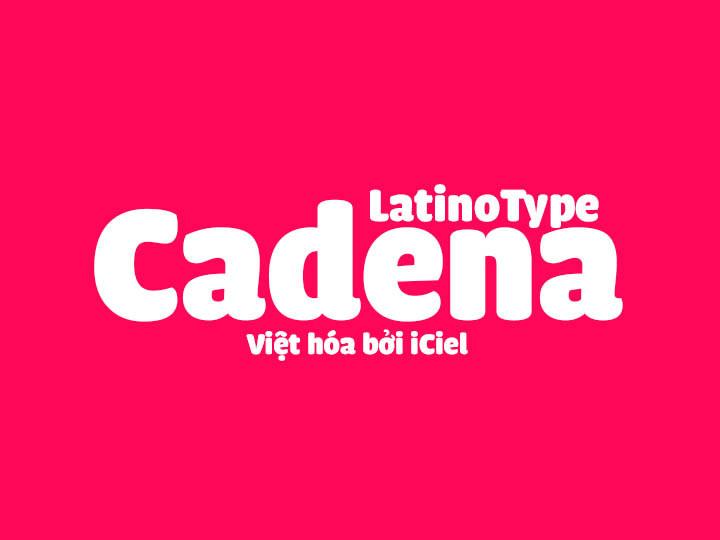 Font iCiel Cadena Black