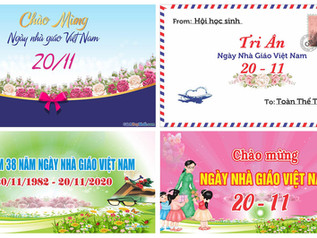 Download Background Phông Nền Ngày Nhà Giáo Việt Nam 20/11 Vector Corel CDR Part02