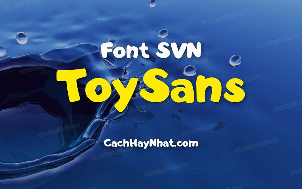 ảnh bìa font SVN ToySans Việt hóa
