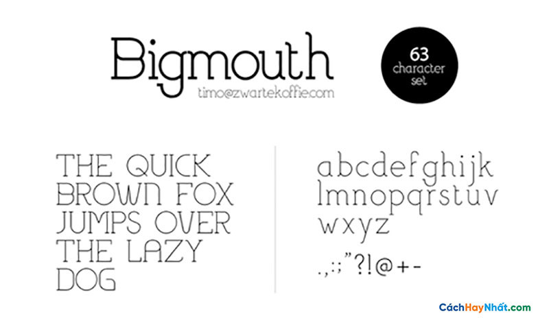Download Free Font Bigmouth