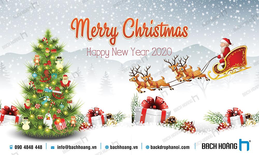 Phông Giáng Sinh - Noel - Backdrop Merry Christmas