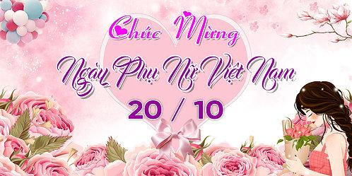 Phông Nền Background Ngày Phụ Nữ Việt Nam 20/10 PSD Photoshop 02