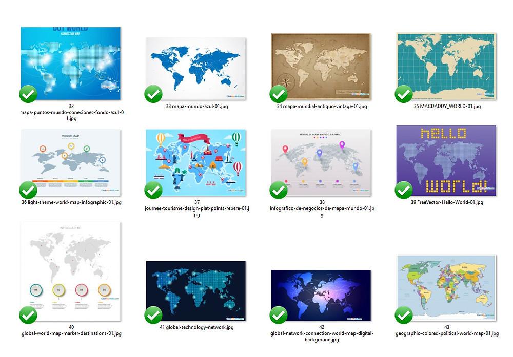 Tổng Hợp Bản Đồ Thế Giới World Map File Vector Corel AI EPS Part 03
