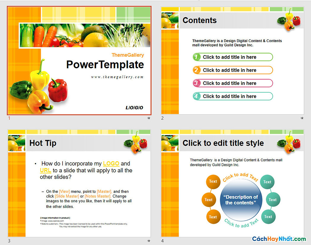 PowerPoint Template 572TGp_fresh_light_ani