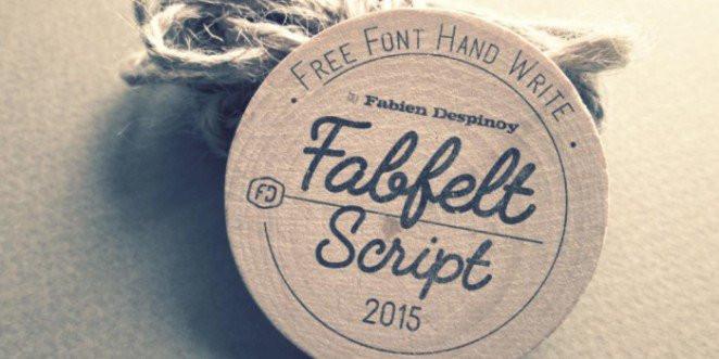 Font Fabfelt Script