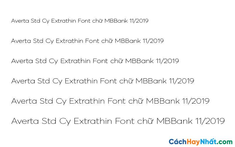 Averta Std Cy Extrathin Font - MBBank