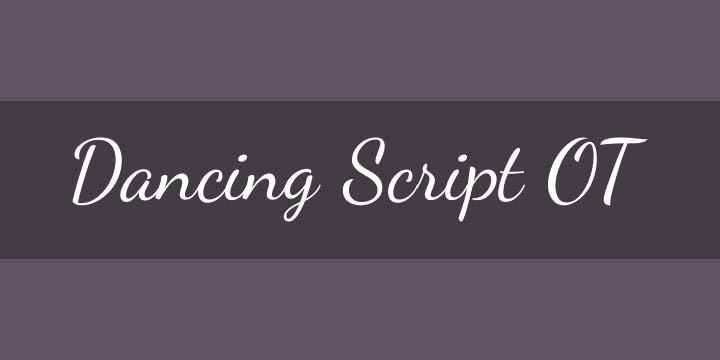 Font Dancing Script