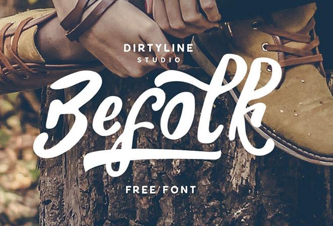 Chia Sẻ Font Chữ Befolk Tuyệt Đẹp