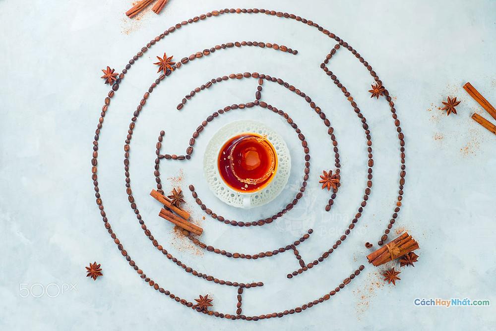 Ý tưởng quảng cáo nghệ thuật thực phẩm chế tác ảnh mê cung cà phê bởi dina