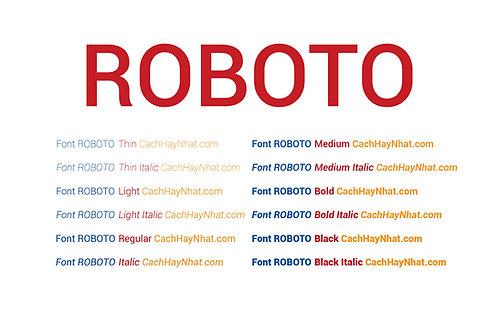 Download Bộ Font Roboto Việt Hóa