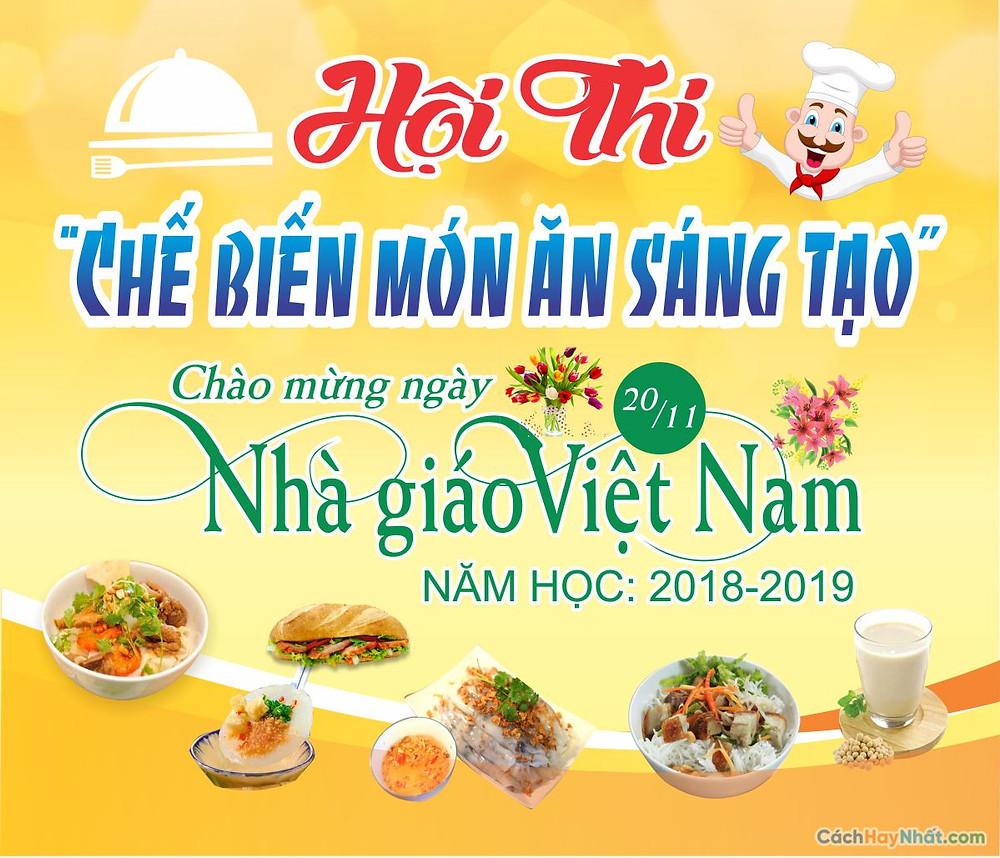 Tải Background Phông Nền Ngày Nhà Giáo Việt Nam 20/11 vector Corel CDR