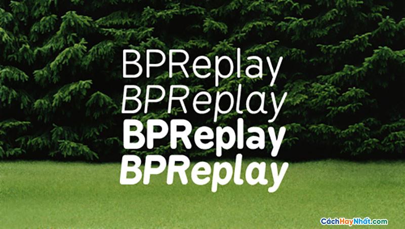 Download Free Font BPreplay