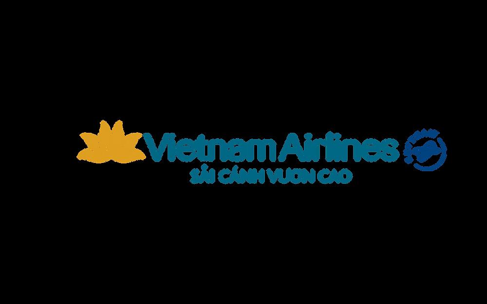 Logo Vietnam Airlines Slogan Sải cánh vươn cao - Bố cục ngang PNG