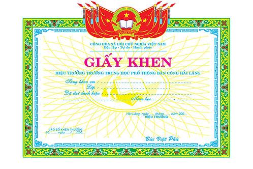 Mẫu Giấy Khen Bằng Khen Certificate Vector Free