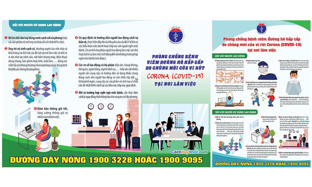 Tờ Rơi, Poster, Pano COVID-19 File Vector Corel 08