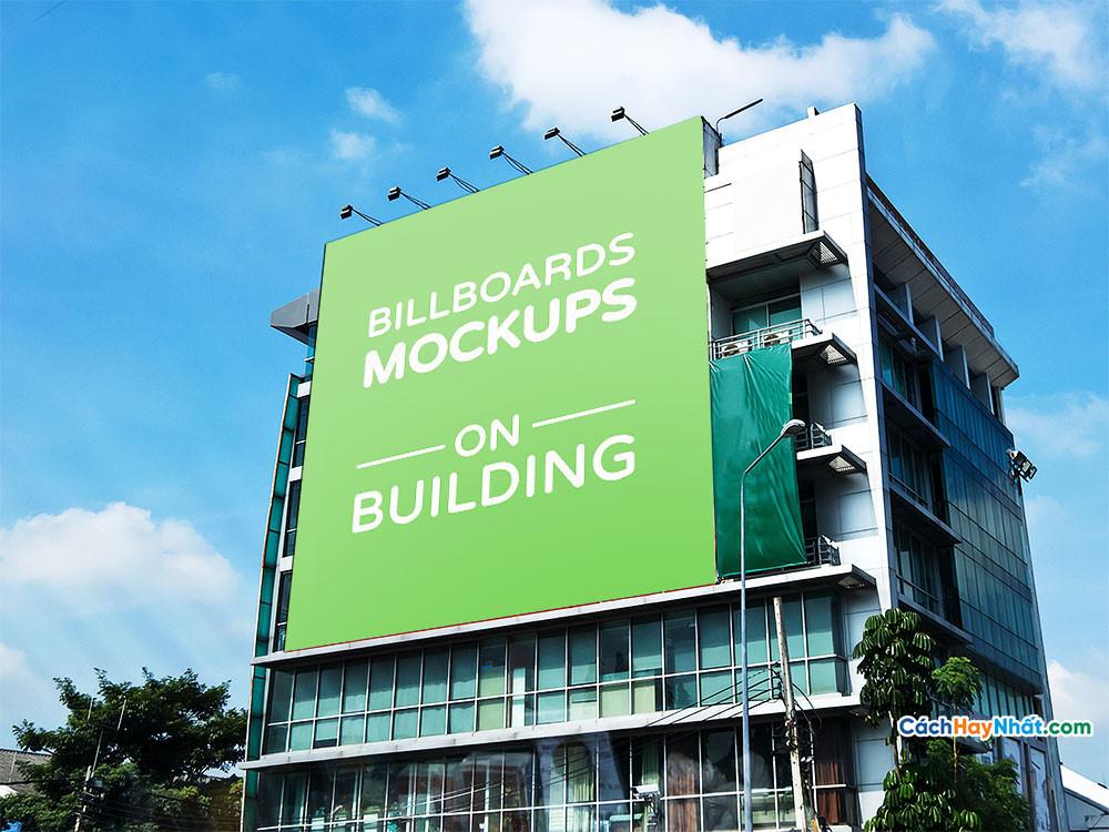 Download File Billboards Mockup on Building PSD Part 02