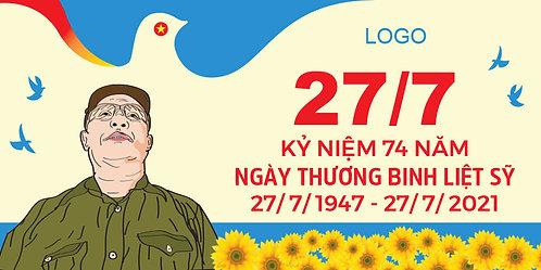 Download Phông Kỷ Niệm Ngày Thương Binh Liệt Sĩ 27/7 File Vector AI