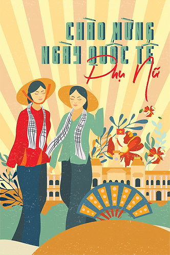 Phông Nền Background Ngày Phụ Nữ Việt Nam 20/10 Vector AI 18