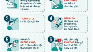 10 Biện Pháp Phòng Ngừa Covid-19 Cơ Bản Cho Cá Nhân File Vector Corel CDR