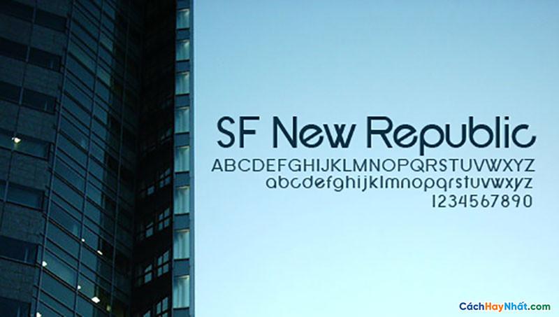Download Free Font SF New Republic