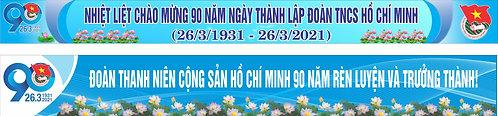 Băng Rôn Đại Hội Đoàn TNCS Hồ Chính Minh 90 Năm Vector Corel CDR