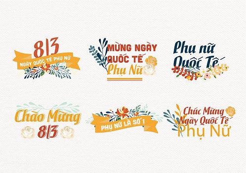 Phông Nền Background Ngày Phụ Nữ Việt Nam 20/10 Vector AI 17