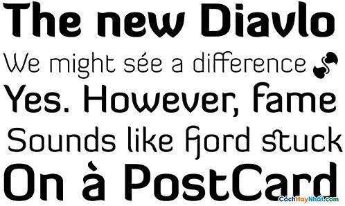 Font Diavlo Download Free