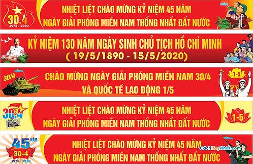 Băng Rôn Giải Phóng Miền Nam 30/4 - Southern Liberation banner 30/4