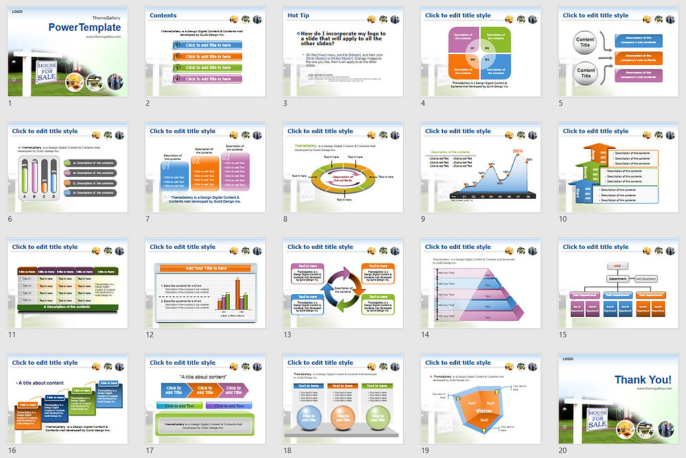 Download Powerpoint Template Free - 588TGp_Housesale_light 16
