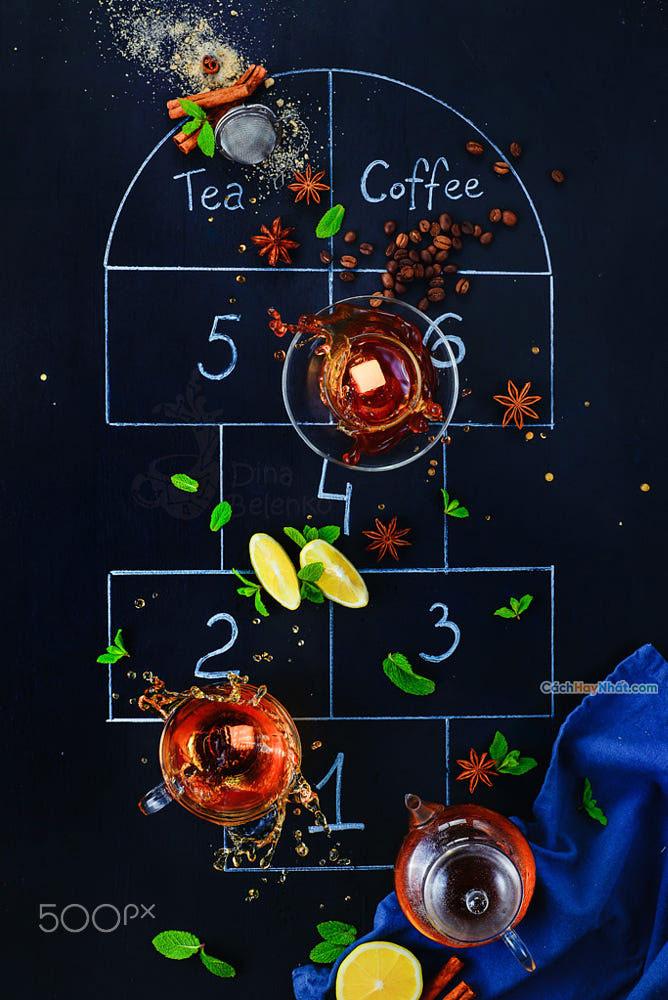 Thực phẩm nghệ thuật quảng cáo ý tưởng chế tác ảnh nhảy lò cò của dina belenko