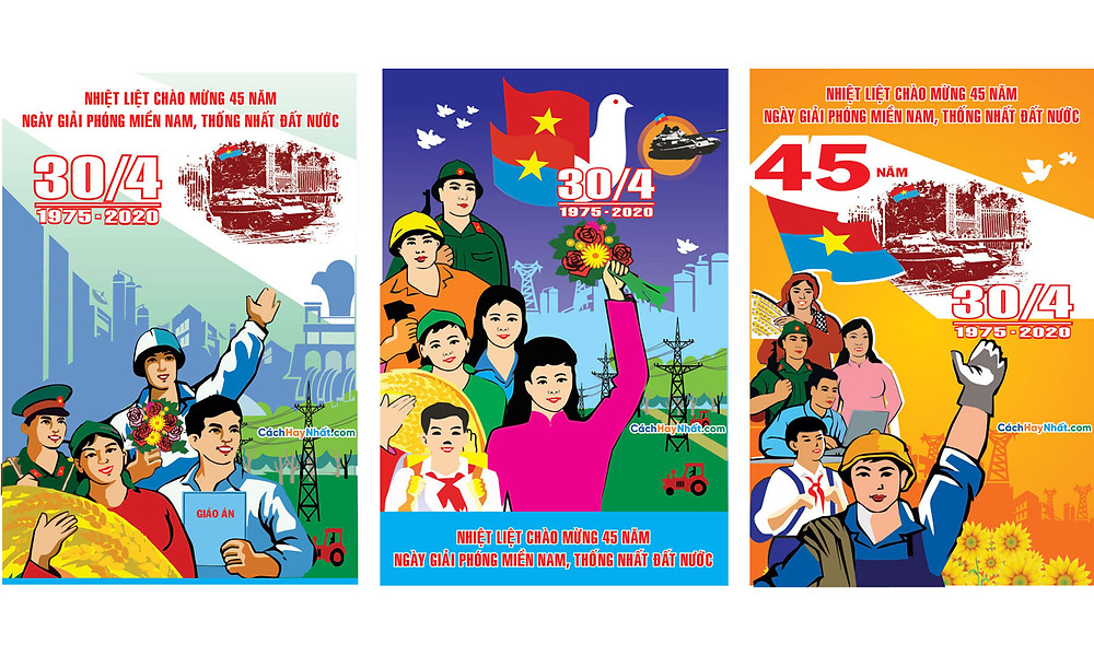 Băng Rôn Giải Phóng Miền Nam 30-4 Và Quốc Tế Lao Động 1-5 File Vector 19