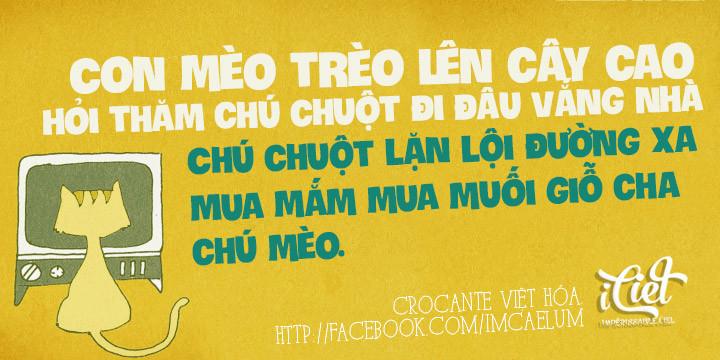 font iciel Crocante Việt hóa