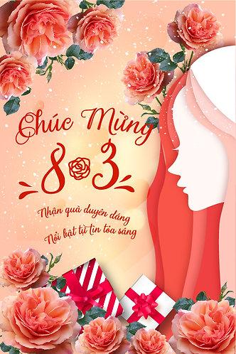 Poster Phông Ngày Quốc Tế Phụ Nữ 8/3 Vector AI 04