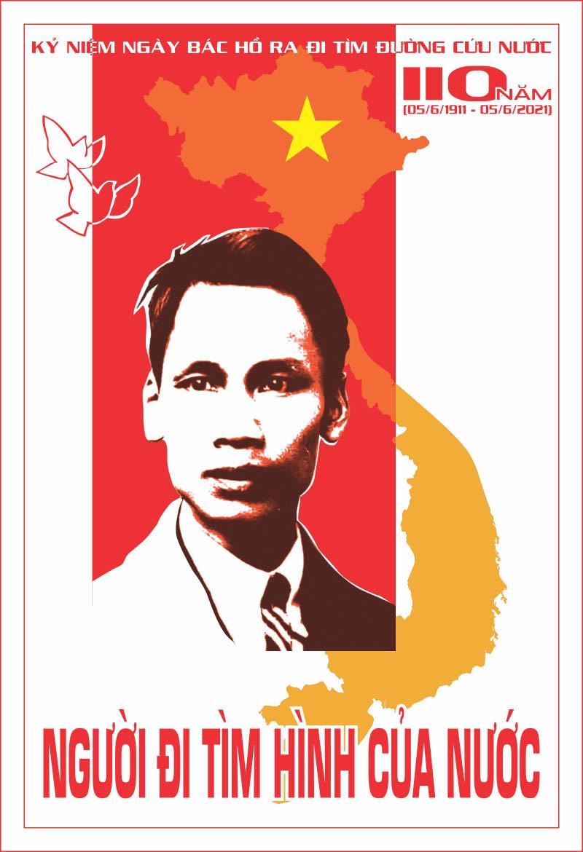 Poster Kỷ Niệm 110 Năm Bác Hồ Ra Đi Tìm Đường Cứu Nước