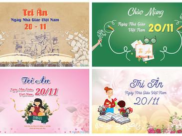 Download Background Phông Nền Ngày Nhà Giáo Việt Nam 20/11 Vector Corel CDR Part01