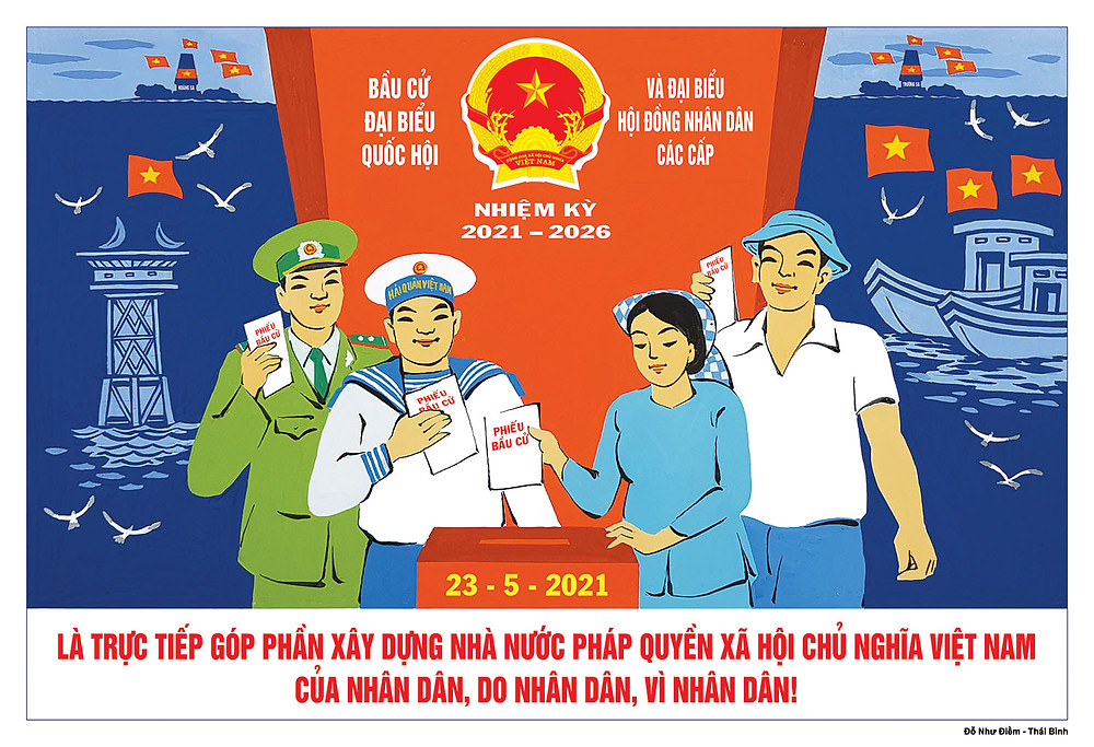 Tranh Cổ Động Bầu Cử Đại Biểu Quốc Hội Và Đại Biểu Hội Đồng Nhân Dân