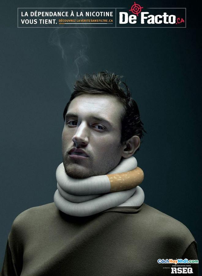 Áp phích quảng cáo chống hút thuốc bởi rseq