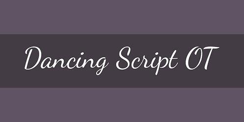 Download Phông Chữ Calligraphy - Dancing Script Font