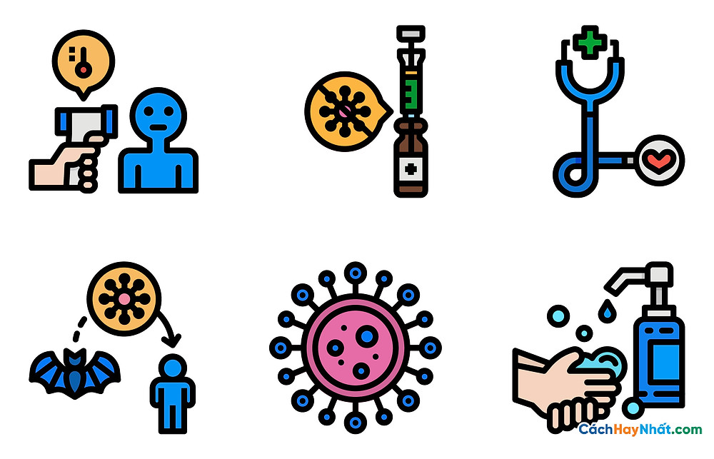 Free File Virus  Corona COVID-19 SARS-COV-2 icons Vector PDF PNG 01