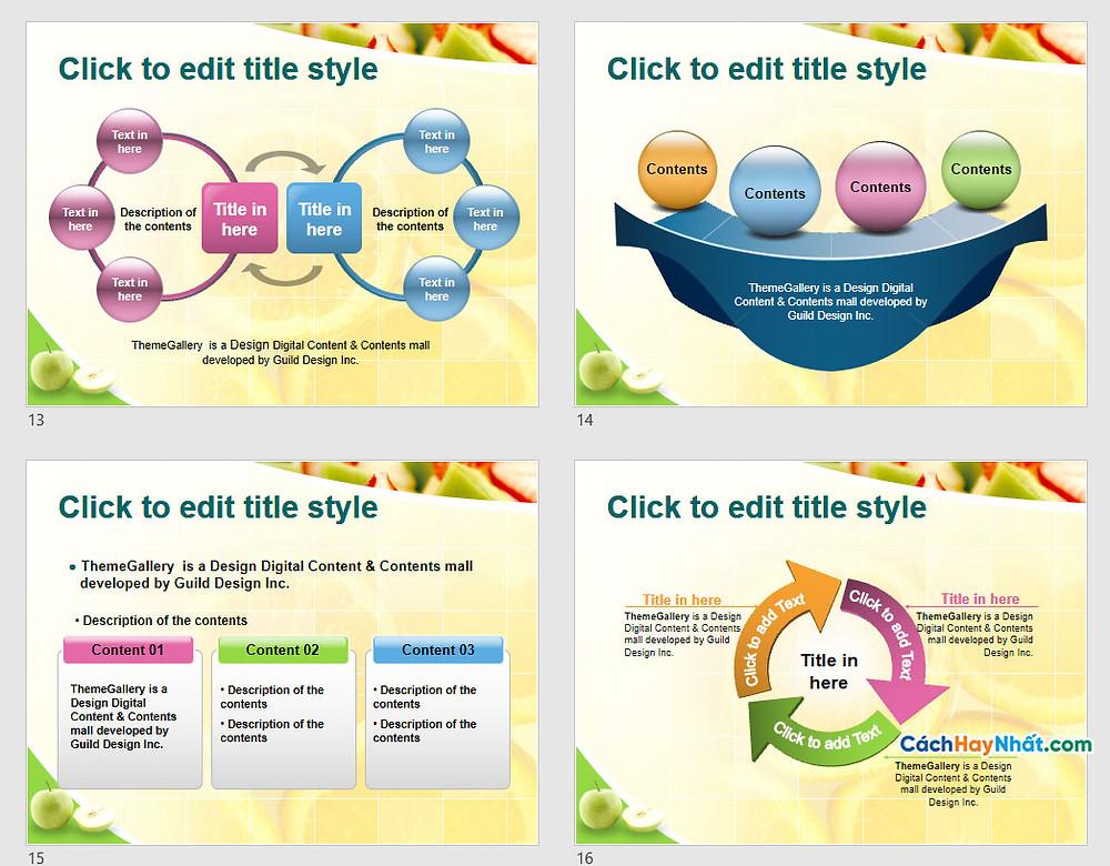 PowerPoint Template 577TGp_fruit_light